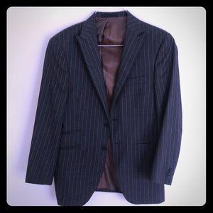 Ben Sherman charcoal w/ orange stripe wool blazer